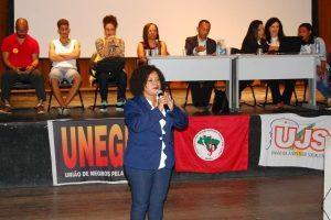 Tia Eron defende a manutenção de institutos federais em Valença (BA)