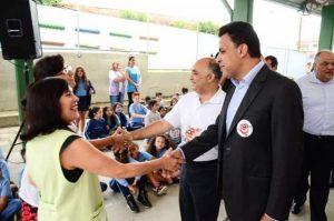 Valdemir Soares acompanha George Hilton em mobilização contra o Aedes aegypti