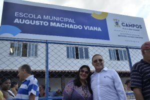 Vereador Vanderly Mello participa de inauguração de escola em Campo dos Goytacazes