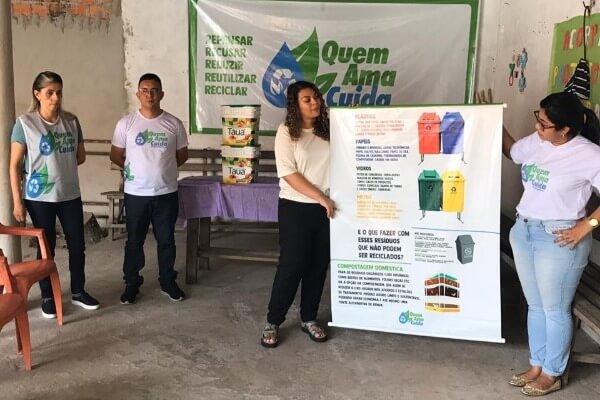 Projeto Quem Ama Cuida leva conscientização ambiental a Castanhal