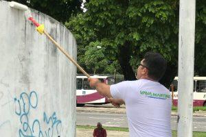 Quem Ama Cuida realiza separação de resíduos em praça de Belém