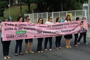 "Vereador Luiz Carlos realiza ""Buzinaço pelas Mulheres"" no Dique do Tororó"