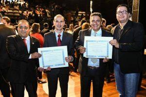Vereadores do PRB são diplomados em solenidade no Teatro Municipal de Araxá (MG)