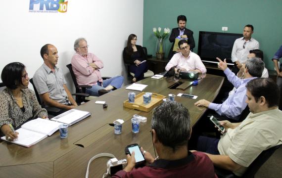 Vice-presidente estadual Sérgio Fontellas recebe pré-candidato de Sorocaba