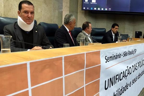 Em SP, Vinicius Carvalho defende valorização dos profissionais de segurança pública