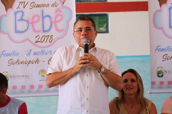 Webston Pinheiro comemora realização da Semana do Bebê em Solonópole (CE)