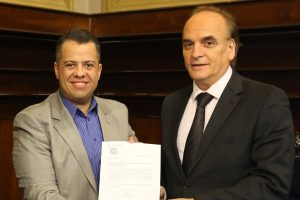 Wellington Moura se reúne com presidente do Tribunal de Justiça de São Paulo
