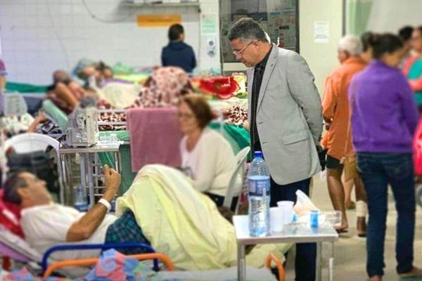 William Brigido denuncia descaso no Hospital Agamenon Magalhães em Pernambuco