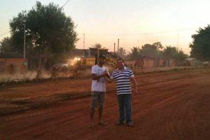 Vereador Wilson Tim acompanha serviços em bairro de Cacoal