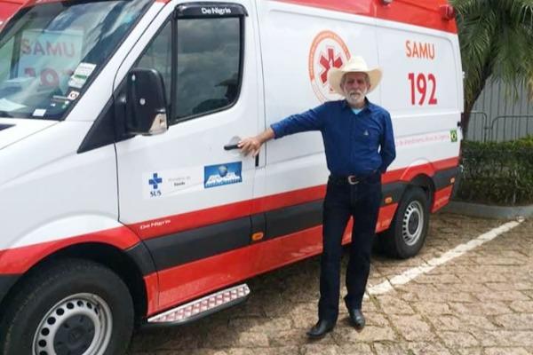 Prefeito Zé Biruta conquista ambulância para o Samu de Ferraz de Vasconcelos (SP)