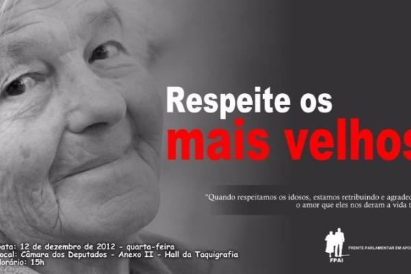 Frente parlamentar promove ato em valorização dos idosos