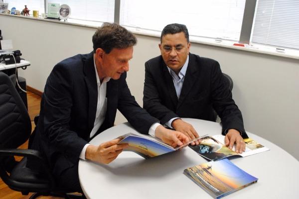 Ministro da Pesca visita deputado Gilmaci