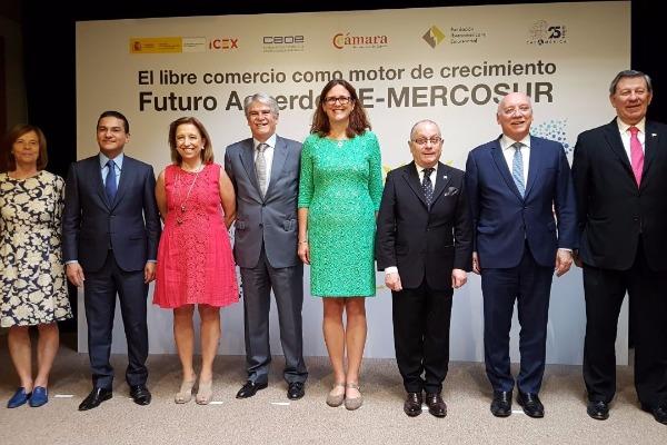 Em Madri, Marcos Pereira afirma que Mercosul e UE se aproximam de acordo histórico