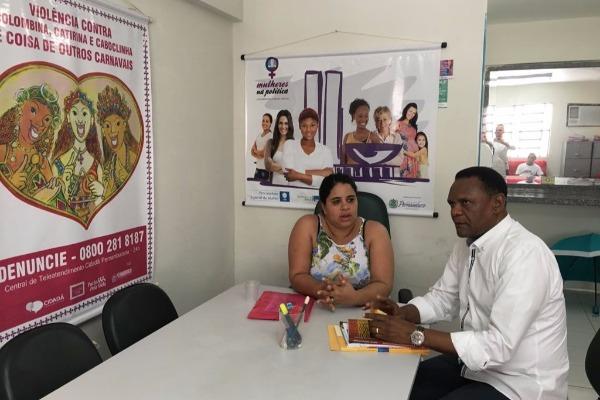 Ossesio Silva visita Paudalho (PE) se reúne com coordenadora Eliana Macedo