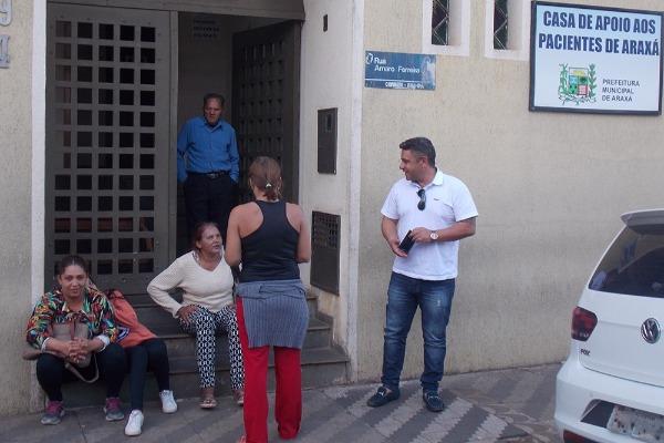 Robson Magela visita a casa de apoio aos pacientes de Araxá em Uberaba (MG)