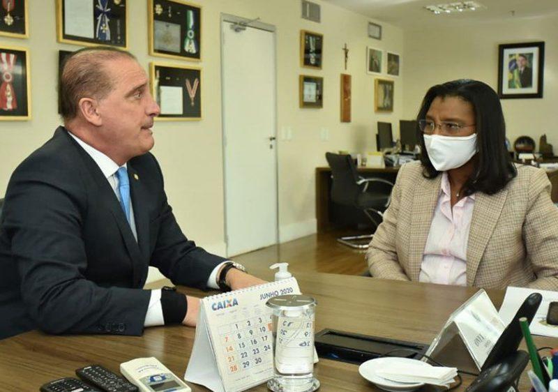 Rosangela Gomes solicita recursos para o RJ em reunião com Onyx Lorenzoni